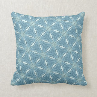 Painted Snowflakes Winter Pillow Blue White
