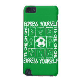 Painted soccer motivational iPod touch 5G covers