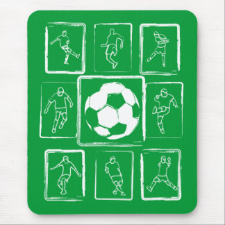 Painted soccer skills motivational mouse mat