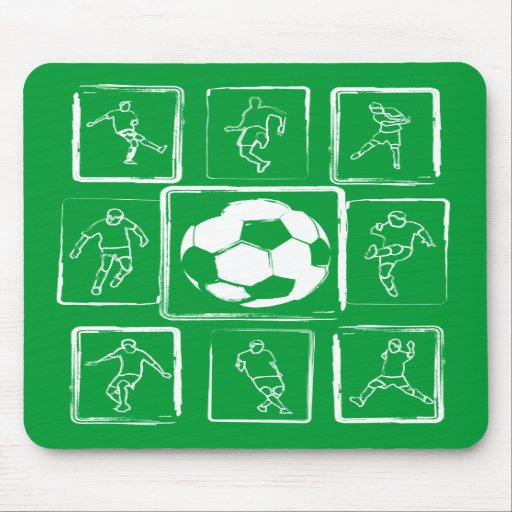 Painted soccer skills motivational mousepad