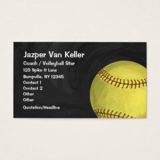 Painted Softball Art Business Card