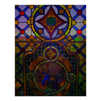 Painted Stained Glass print