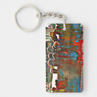 Painted Stove Pipe Cactus Key Chain