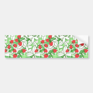 Painted Strawberry Pattern Car Bumper Sticker