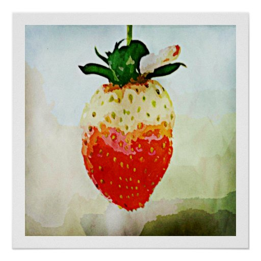 Painted Strawberry Print