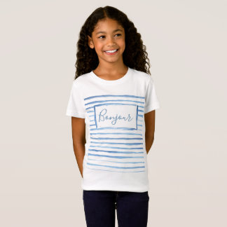 Painted Stripes Customizable Girls Shirt