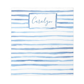 Painted Stripes Customizable Notepad