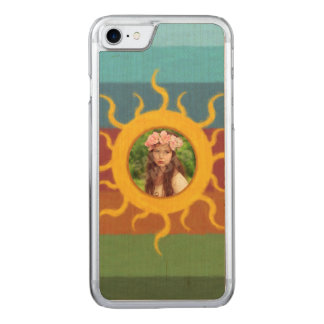Painted Sun Photo Template Carved iPhone 8/7 Case