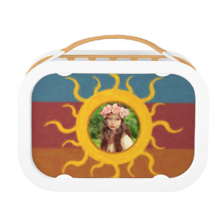 Painted Sun Photo Template Lunch Box