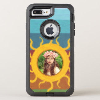 Painted Sun Photo Template OtterBox Defender iPhone 8 Plus/7 Plus Case