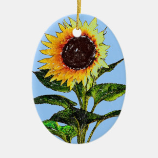 Painted Sunflower Ornament