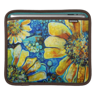 Painted Sunflowers Fine Art Sleeve For the ipad Sleeves For iPads