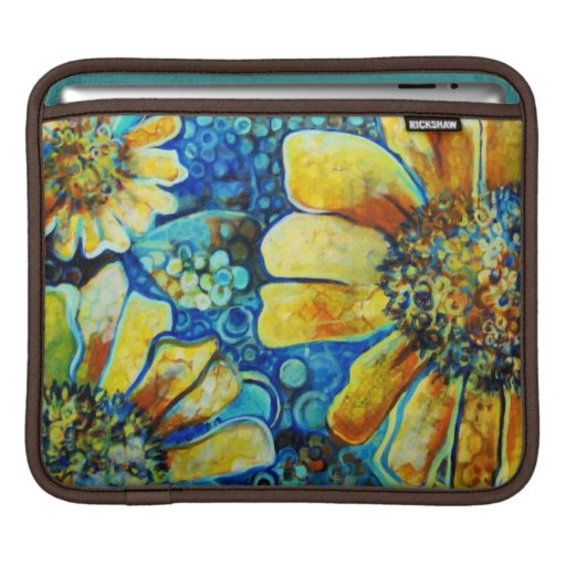 Painted Sunflowers, Fine Art Sleeve For the ipad Sleeves For iPads