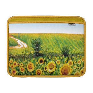 painted sunflowers MacBook sleeve