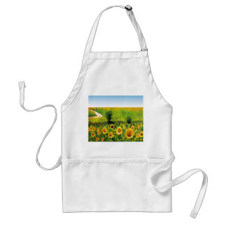 painted sunflowers standard apron