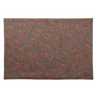 painted swirls place mat