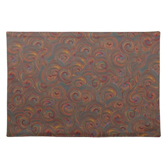 painted swirls place mat