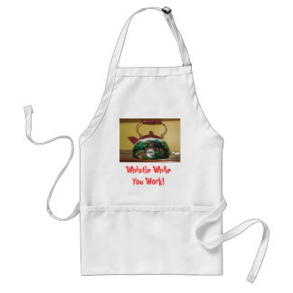 Painted Teapot, Whistle While You Work! Adult Apron