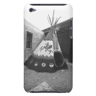 Painted tepee on courtyard, (B&W) iPod Touch Case-Mate Case