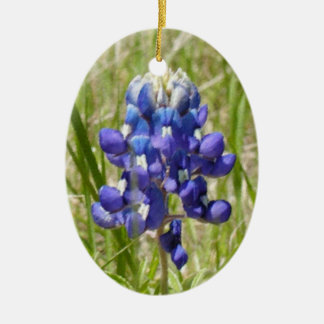 Painted Texas Bluebonnet Ornament
