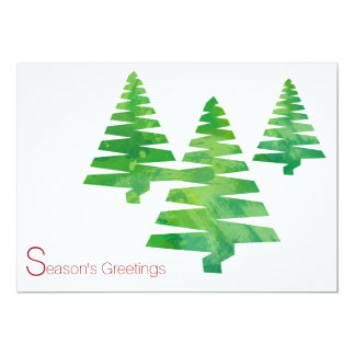 Painted Trees  Holiday Christmas Watercolor Cards