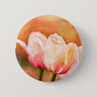 Painted Tulips 6 Cm Round Badge