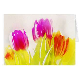 Painted Tulips Cards