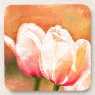 Painted Tulips Drink Coaster
