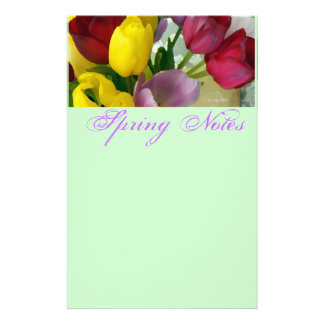 Painted Tulips Stationery
