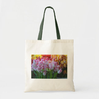 Painted Tulips-Street Market Budget Tote Bag