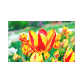 Painted Tulips Wrapped Canvas