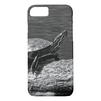 Painted Turtle on a Log (B&W) iPhone 8/7 Case