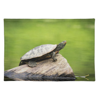 Painted Turtle on a log Placemat