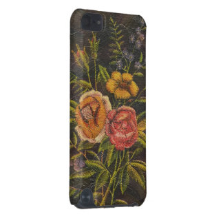 Painted Vintage Flowers Rose iPod Touch 5G Cover