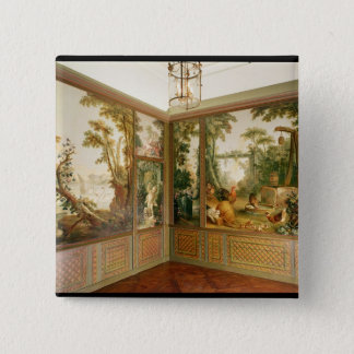 Painted wall panels in the Salon of Gille 15 Cm Square Badge