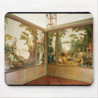 Painted wall panels in the Salon of Gille Mouse Mat