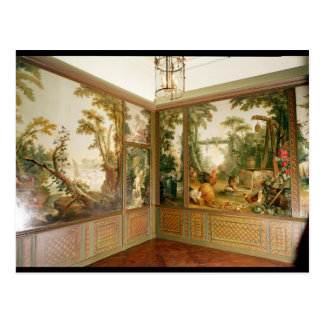 Painted wall panels in the Salon of Gille Postcard