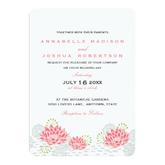 Painted Water Lillies Wedding Invite