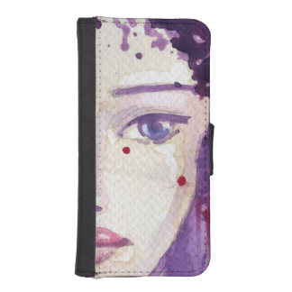 Painted Watercolor Background iPhone SE/5/5s Wallet Case