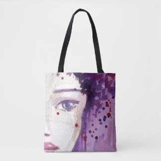 Painted Watercolor Background Tote Bag