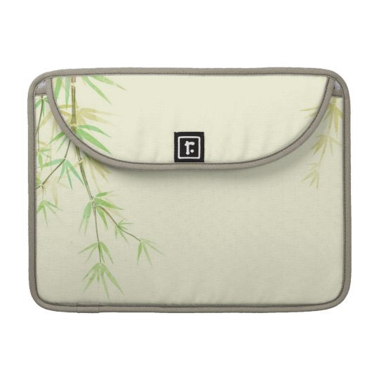 Painted watercolor card with wild stylised MacBook pro sleeves