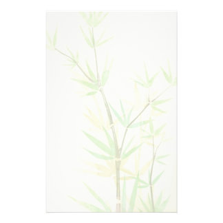 Painted watercolor card with wild stylized