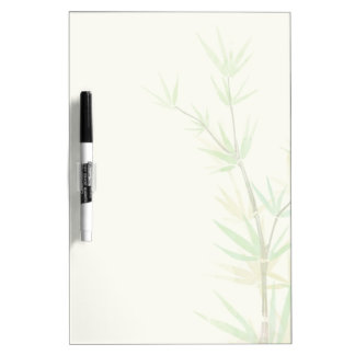 Painted watercolor card with wild stylized dry erase whiteboard