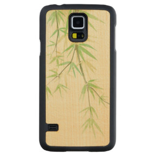 Painted watercolor card with wild stylized maple galaxy s5 slim case
