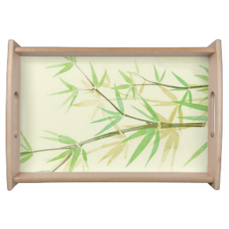 Painted watercolor card with wild stylized serving tray