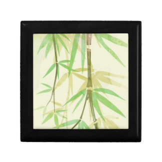 Painted watercolor card with wild stylized small square gift box