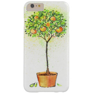 Painted watercolor citrus tree in pot barely there iPhone 6 plus case