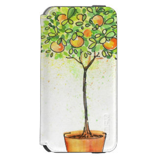 Painted watercolor citrus tree in pot incipio watson™ iPhone 6 wallet case