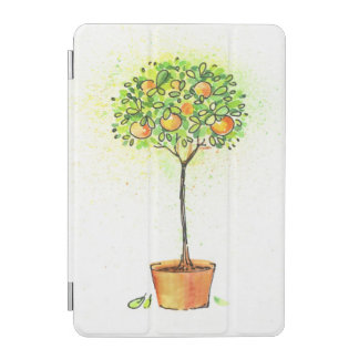 Painted watercolor citrus tree in pot iPad mini cover