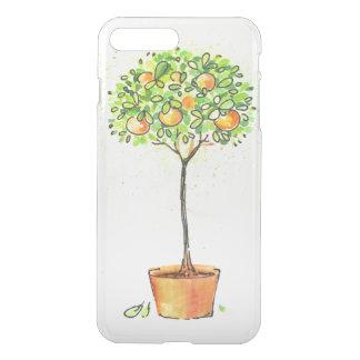 Painted watercolor citrus tree in pot iPhone 8 plus/7 plus case